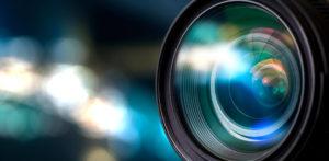 Detail objektiuv fotoaparátu.