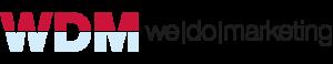 červenomodré logo WDM We Do Marketing