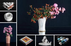 koláž fotografií keramických výrobků