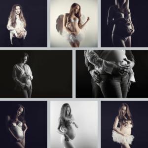 koláž z těhotenských fotografií JanWphotography