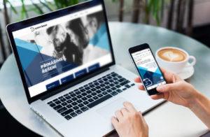 náhled webových stránek společnosti system boost na laptopu a na mobilu